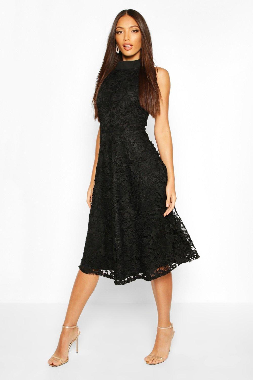 43++ Black lace midi skater dress ideas in 2021