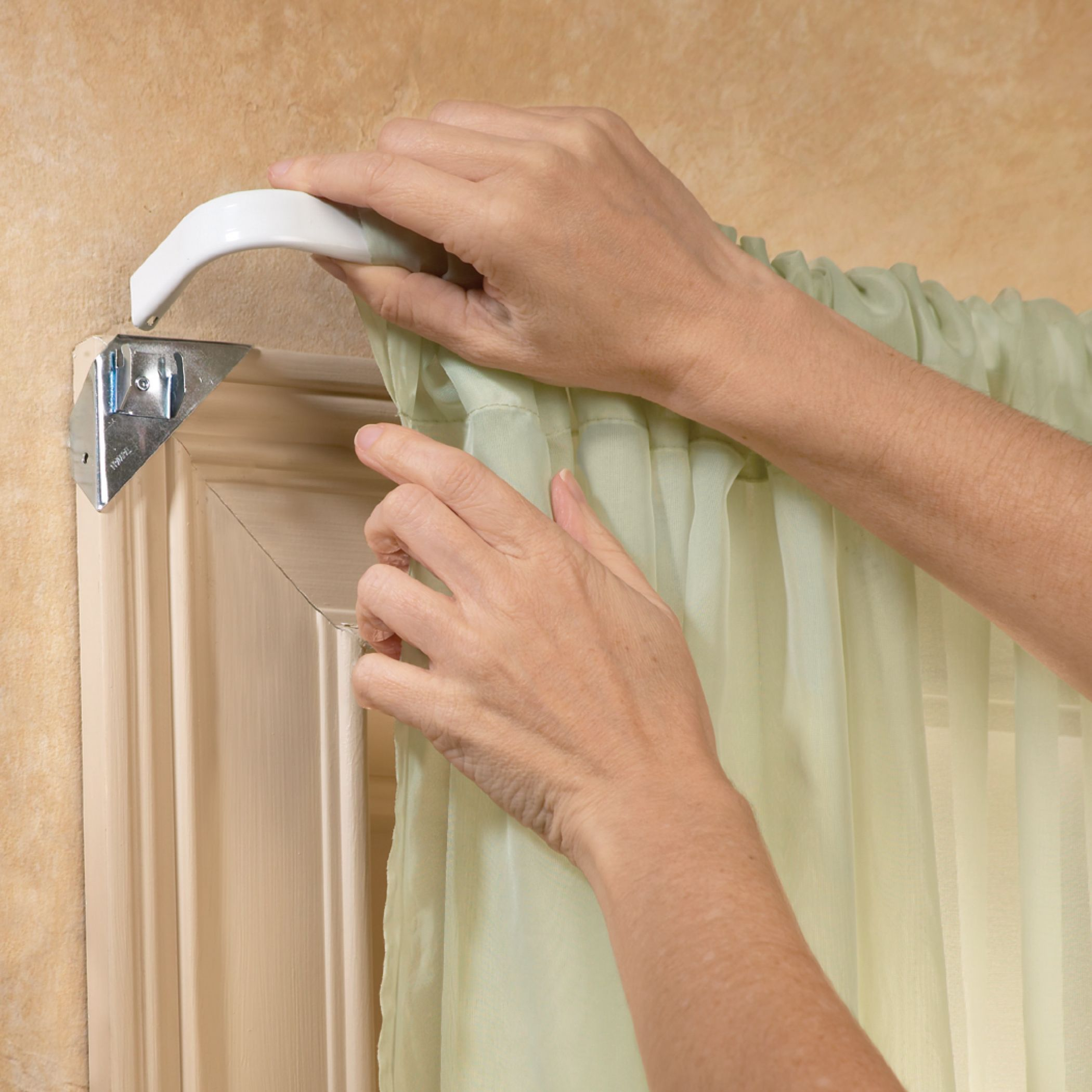 Instant Curtain Rod Holders Set Of 8 Walmart Com Curtain Rod