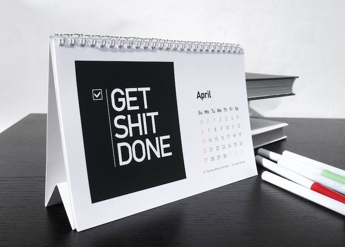 Startup Quote 2017 Desk Calendar The From Vitamins Is