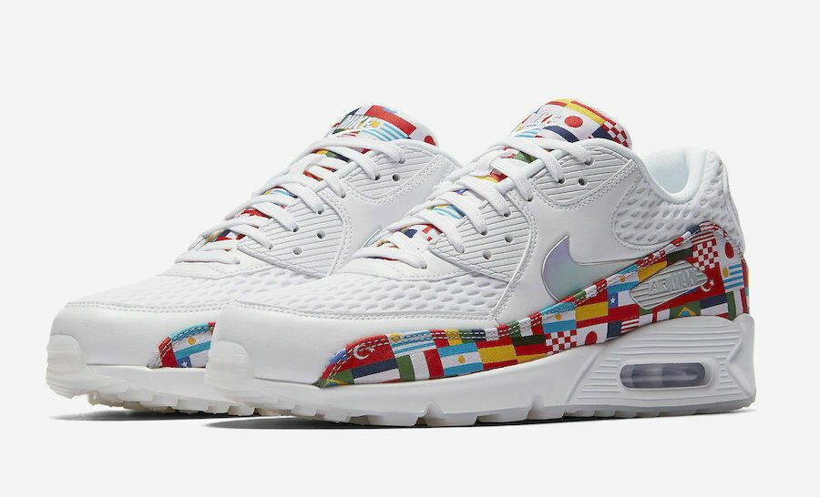 6b28e5b01 NEW Sz 6 Men s Nike Air Max 90 NIC QS International Flag AO5119-100 - Nike  Airs (This is a link to Amazon and as an Amazon Associate I earn from  qualifying ...