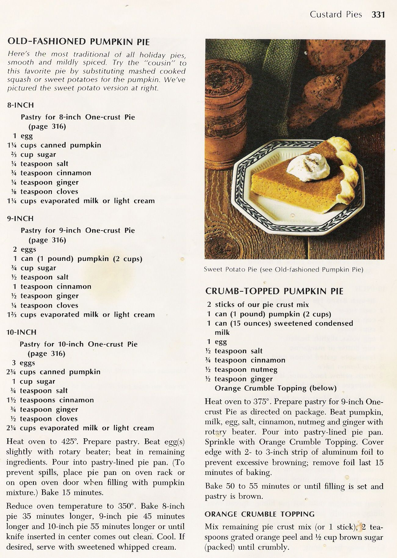 Betty Crocker Pumpkin Pie Favorite pie, Pumpkin pie
