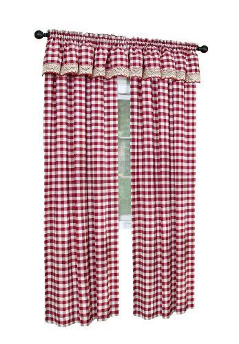 Red Gingham Curtain Panels   Gingham style   Pinterest   Gingham ...