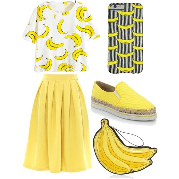 BANANAS EVERRRYWHERREEE.. by yellowskirt on Polyvore featuring мода, Jimmy Choo and bananas