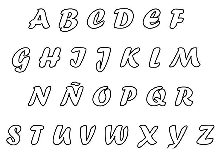 Moldes De Letras Cursivas Para Imprimir Y Recortar Buscar Con Google Lettering Alphabet Printable Alphabet Letters Lettering Fonts
