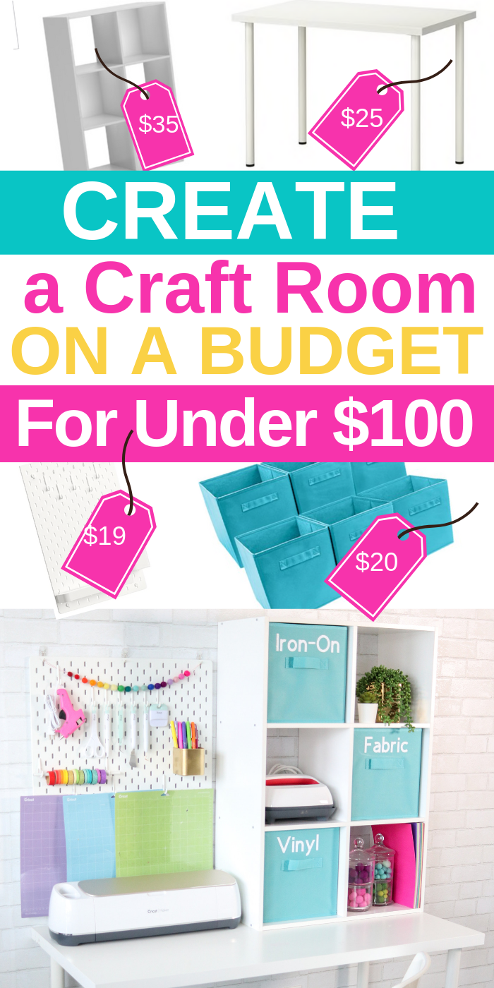 How To Make And Organize A Craft Room On A Budget!