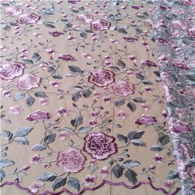 0f69b5d591d Одежда шитье и ткани Чистая Пряжа 3D Вышивка шифоновым цветком Кружево  Ткань сетки Материал DIY платье