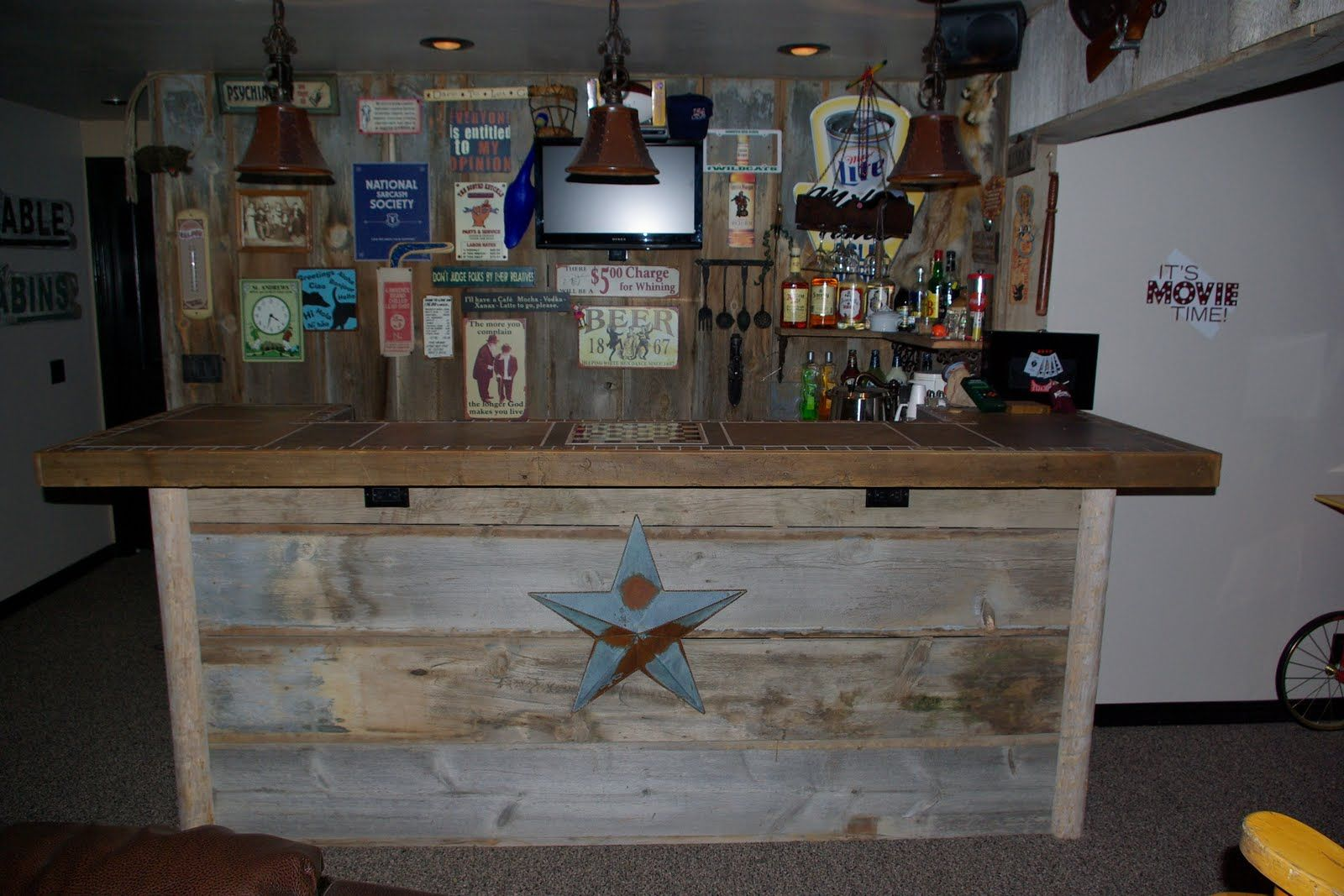 Unique Barn Wood Bar Ideas