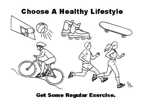 Get Some Regular Exercise Coloring Pages Kids Play Color Coloring Pages Regular Exercise Exercise