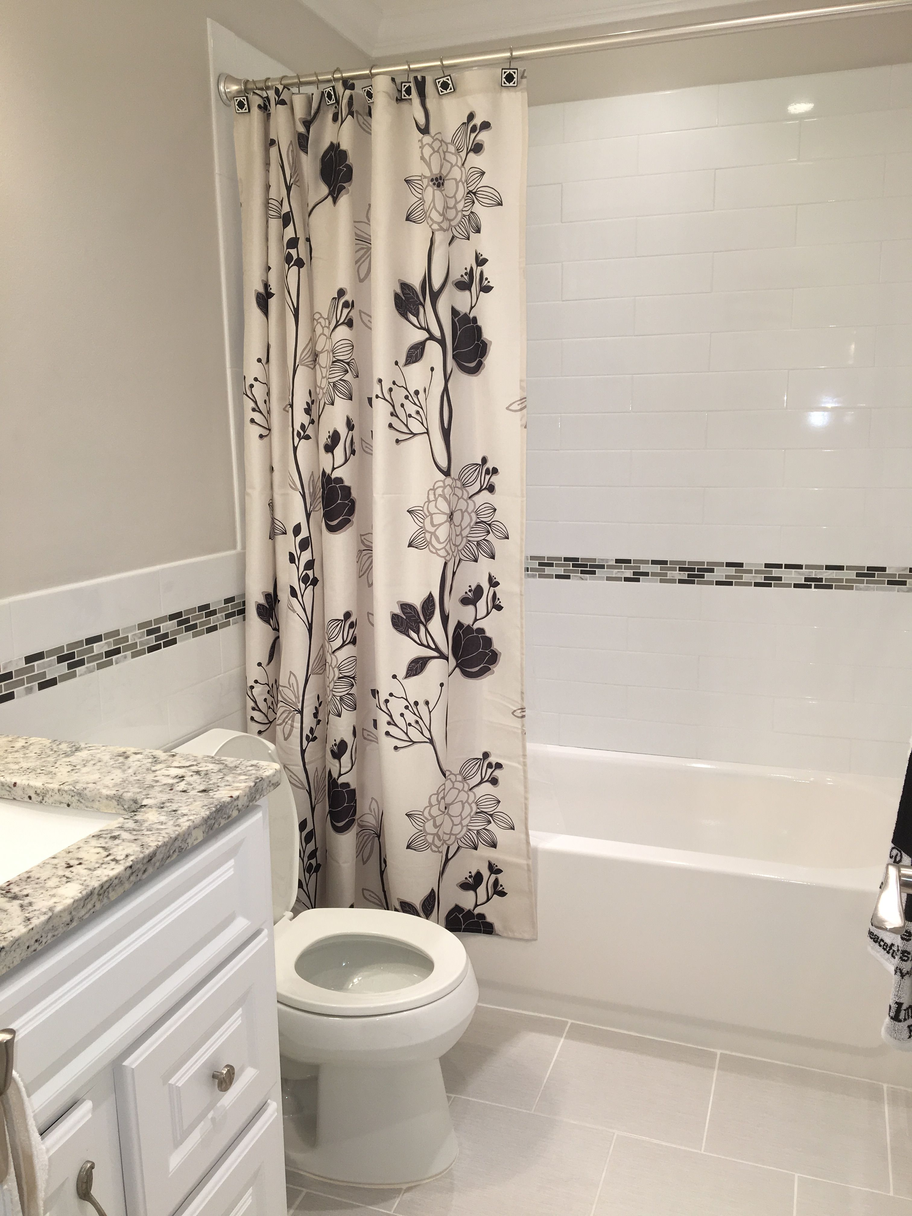 All Black White Gray Bathroom Benjamin Moore Balboa Mist On Walls