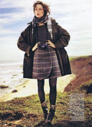 Anna de Rijk by John Balsom for Harper's Bazaar US November 2010 by cornelia