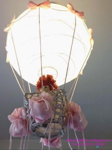 Coccolandia handmade lampadario mongolfiera sfera di for Lampadario carta ikea