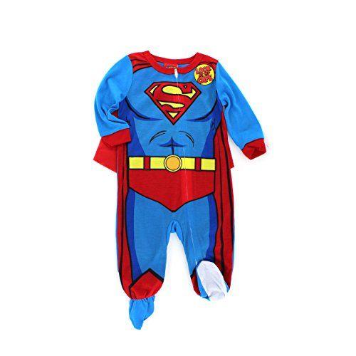 Superman Infant Costume Sleeper Pajamas With Cape 12m Dc Comics Http Www Amazon Com Dp B00mtuuaky Ref Cm Sw R Pi Dp Boys Pajamas Superman Baby Superman Boy