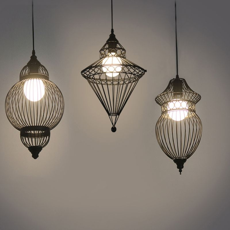 Buy matte black single light wire cage foyer pendant lighting with buy matte black single light wire cage foyer pendant lighting with lowest price and top service mozeypictures Image collections