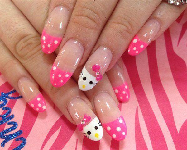Hello Kitty Nail 50 Hello Kitty Nail Designs 3 3 Beautynails