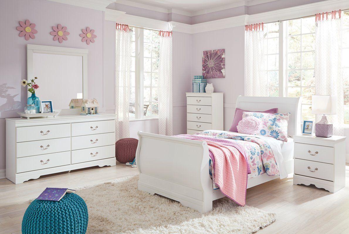 Aeroome Sleigh Configurable Bedroom Set In 2020 Sleigh Bedroom Set Twin Bedroom Sets Bedroom Set
