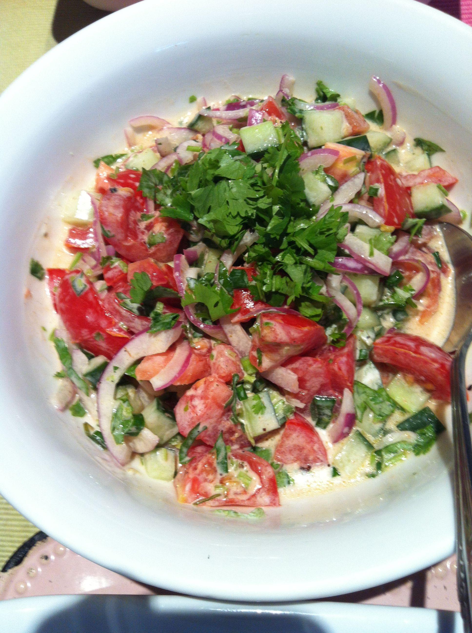 #yummy #yoghurt #salad