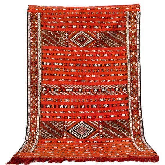 Kilim Rug, Wall Tapestry, Boho Wall Hanging, Bohemian Wall Decor, Wall Art