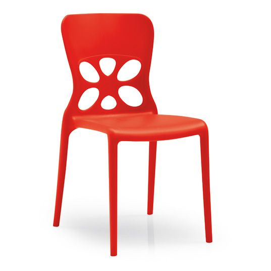 O Chaise Neon Rouge (Set de 2) 013139469460 - Achat   Vente Chaise