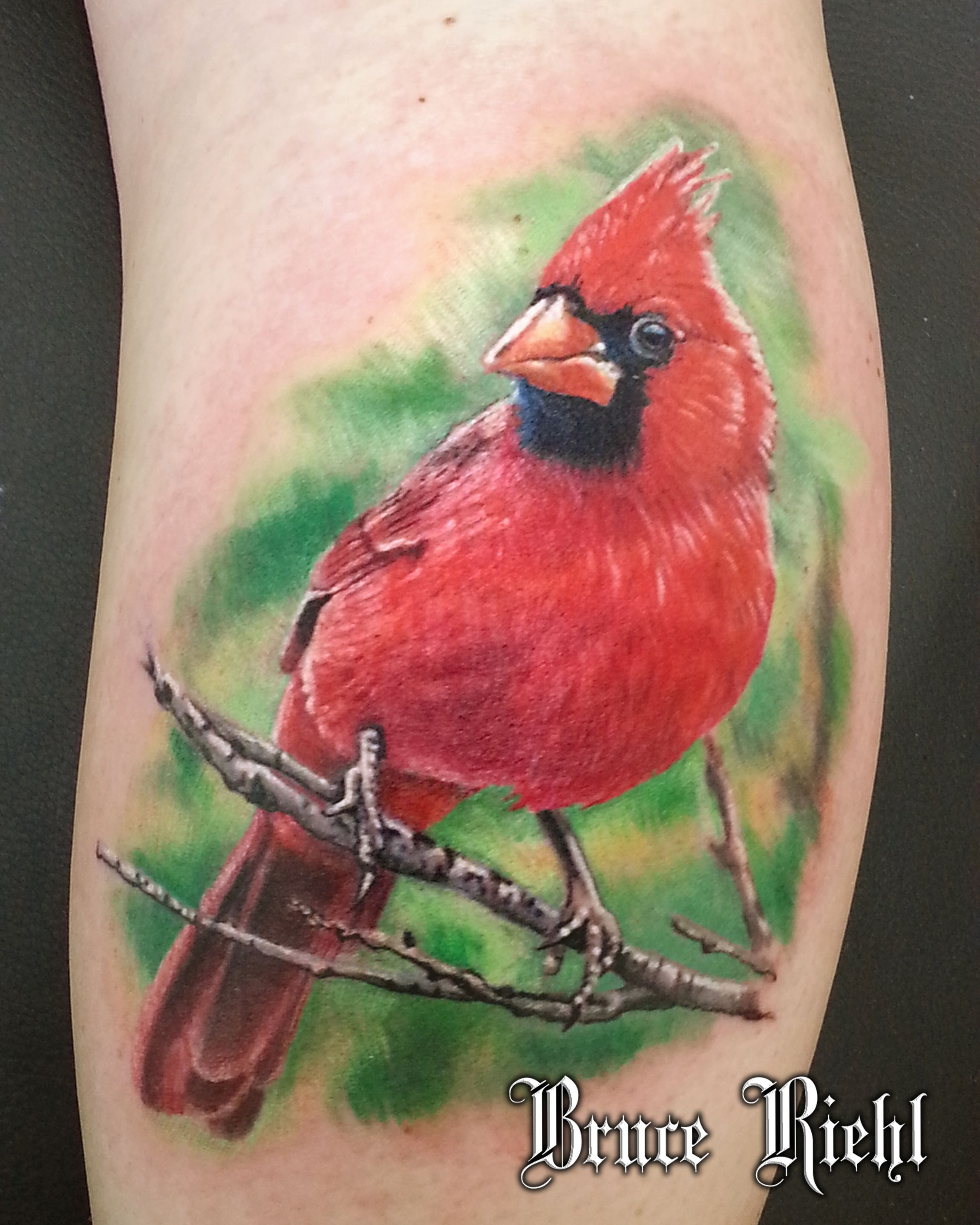 Image Result For Realistic Cardinal Tattoo Cardinal Tattoos Picture Tattoos Red Bird Tattoos