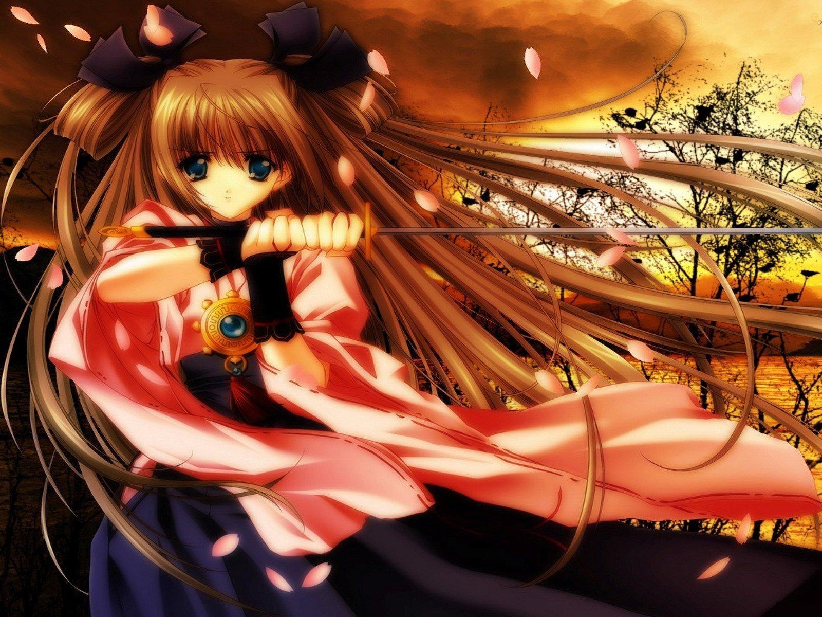 Anime Ninja Girl in Pink Anime wallpaper download, Anime