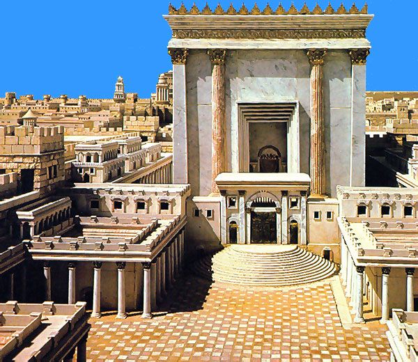 Solomon's Palace Model | The Temple. View from the northeast ...