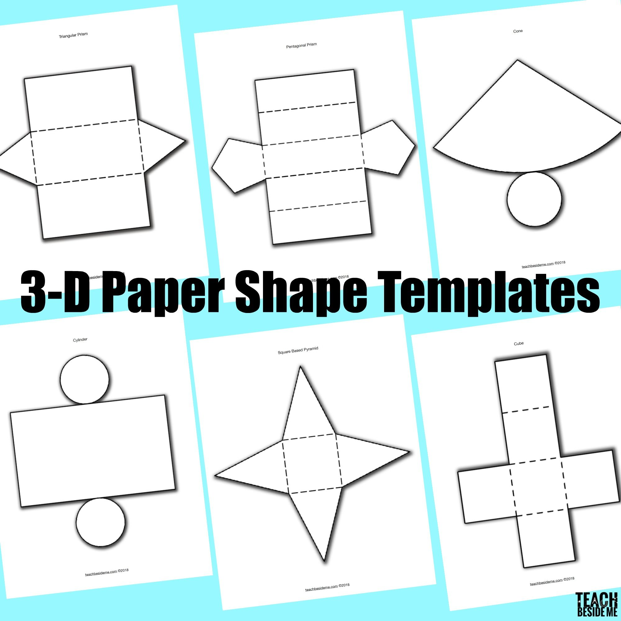 picture regarding Paper Cutout Templates identified as 3-D Paper Form Templates Math Form templates, Paper