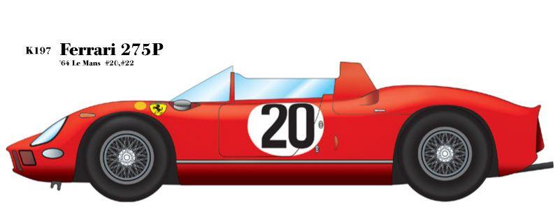 1/24scale Fulldetail kit : Ferrari 275P '64 Le Mans #20#22 » MFH