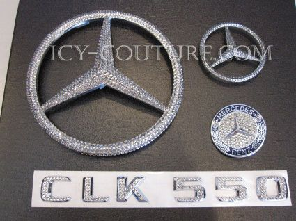 Bedazzle Your Mercedes Emblems With Swarovski Crystals Whats Your Color Select Your Set Car Bling New Car Accessories Car Accessories