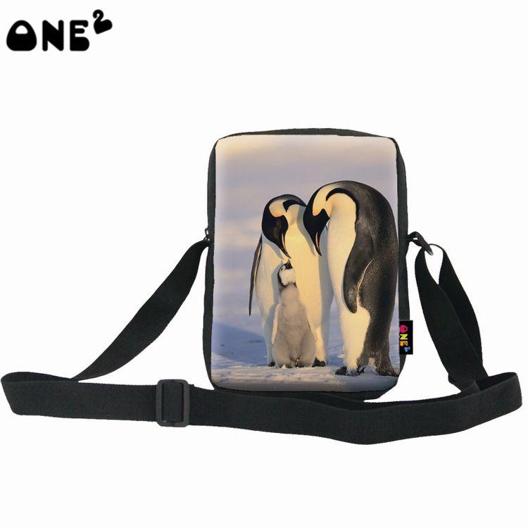 Emperor Penguins Sling Shoulder Messenger Crossbody Bags For Women