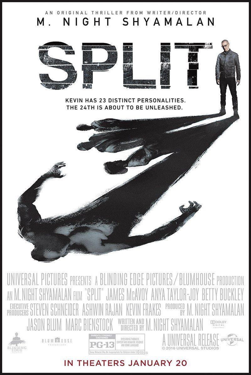 Movie Cinema Poster Art Print SPLIT 2016 James McAvoy Anya Taylor-Joy