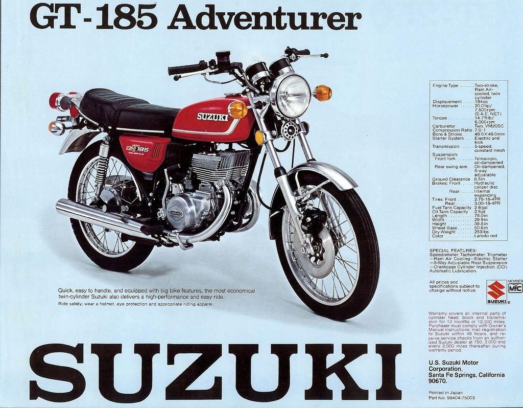 Suzuki 185 Suzuki Motor Suzuki Motorcycle Suzuki
