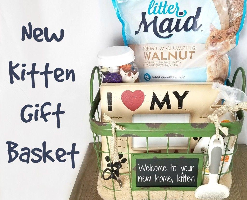 New Kitten Gift Basket Kittens Gifts Gift Baskets Diy Gift Baskets