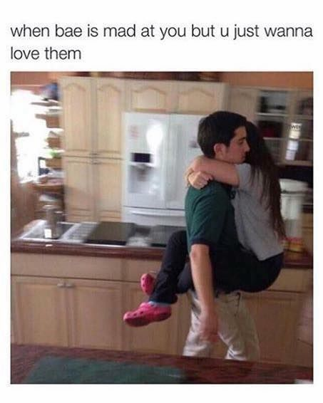 When Bae Is Mad But You Just Want To Love Them Couple Quotes Funny Funny Relationship Memes Best Funny Photos