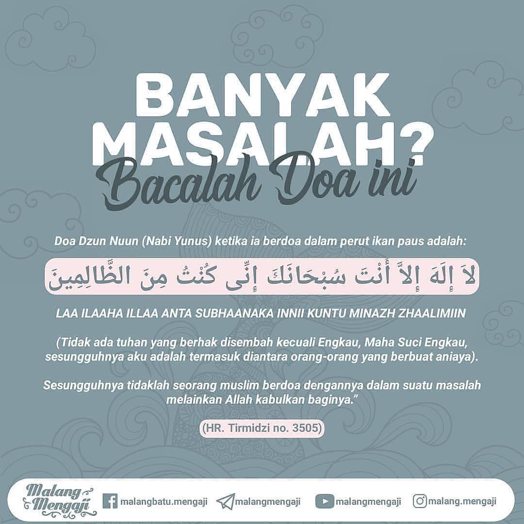 "Fiqih Muslimah on Instagram ""KENAPA DOA NABI YUNUS MUDAH"