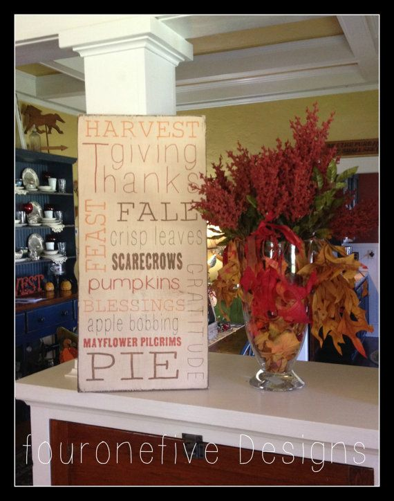 ON SALE Fall Subway Art Hand Painted Sign by fouronefivedesigns, $20.00