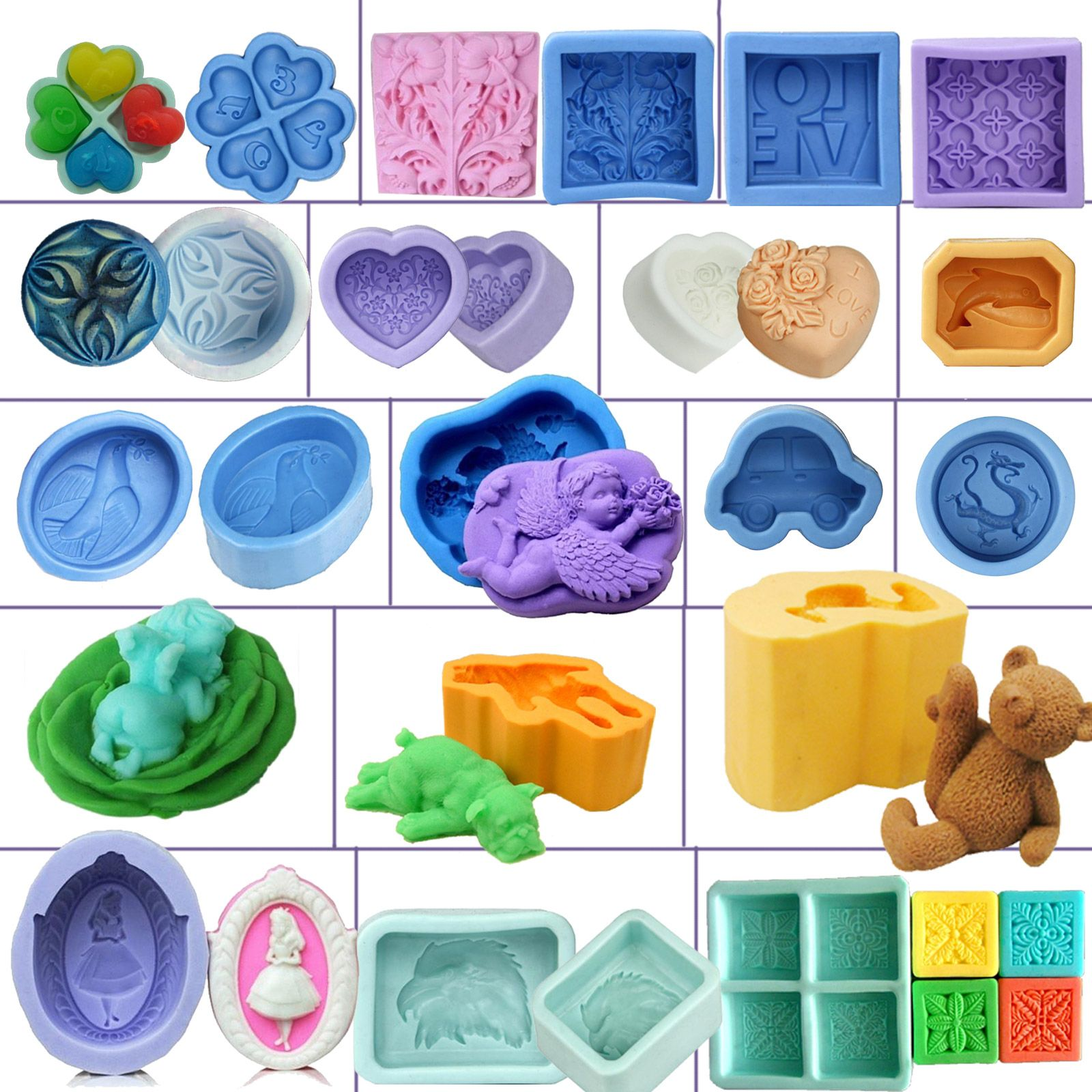 Brand New DIY Mold Soap Mold Silicone Mould Handmade Soap