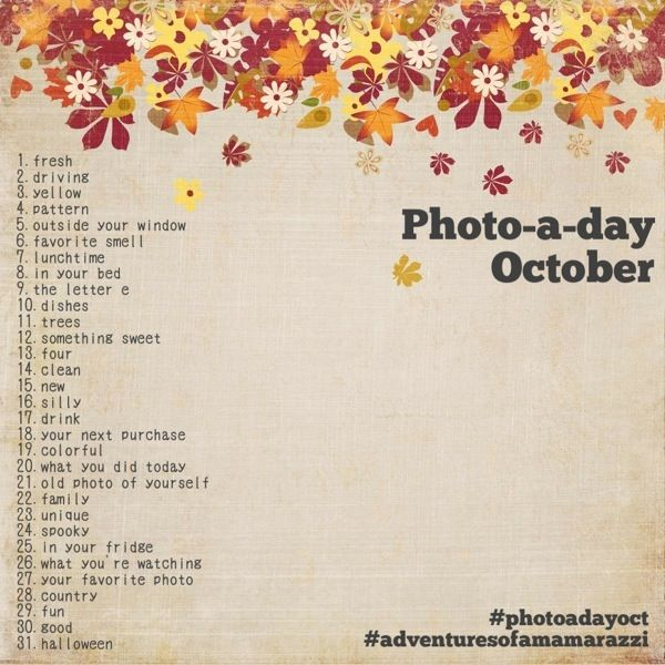merah sirah: Get Ready! - Photo A Day October Lists!