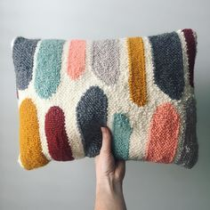 Just added these pillows to my shop check em out in all their soft nubbly goodness! www.roseandtwill.com (Link in profile). . . #modernrughooking #punchneedle #amyoxford #rugpunching #makemodern #handmade #buyhandmade #handcrafted #creativelifehappylife #makersgonnamake #makersmovement #fiberart #moderndecor #pillow