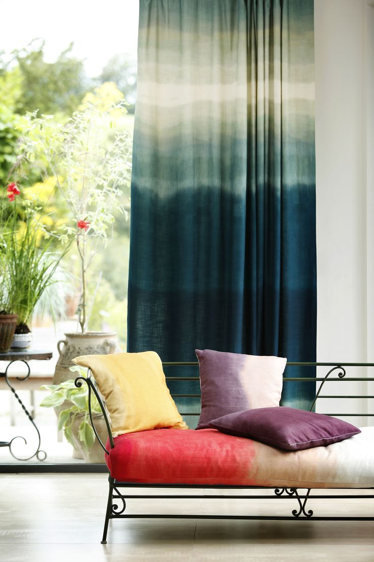 Blue Ombre Curtains In 2019 Ombre Curtains Design Home Decor