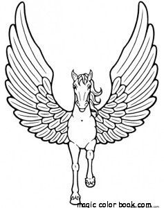 Pegasus Unicorn Horse Coloring Pages Printable Free Horse