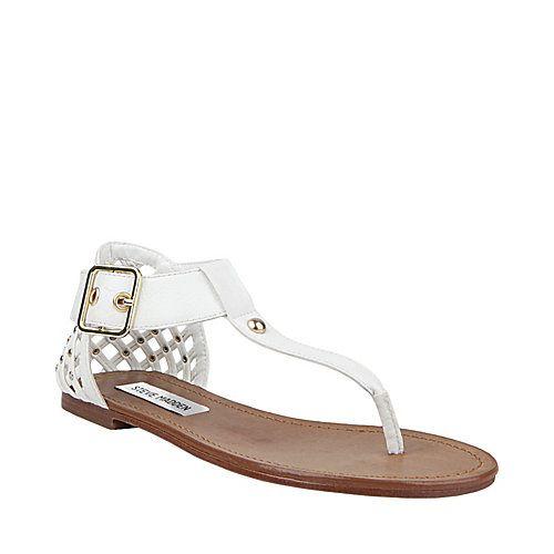 c55e167c77c SUTTTLE WHITE MULTI women's sandal flat thong - Steve Madden | I <3 ...