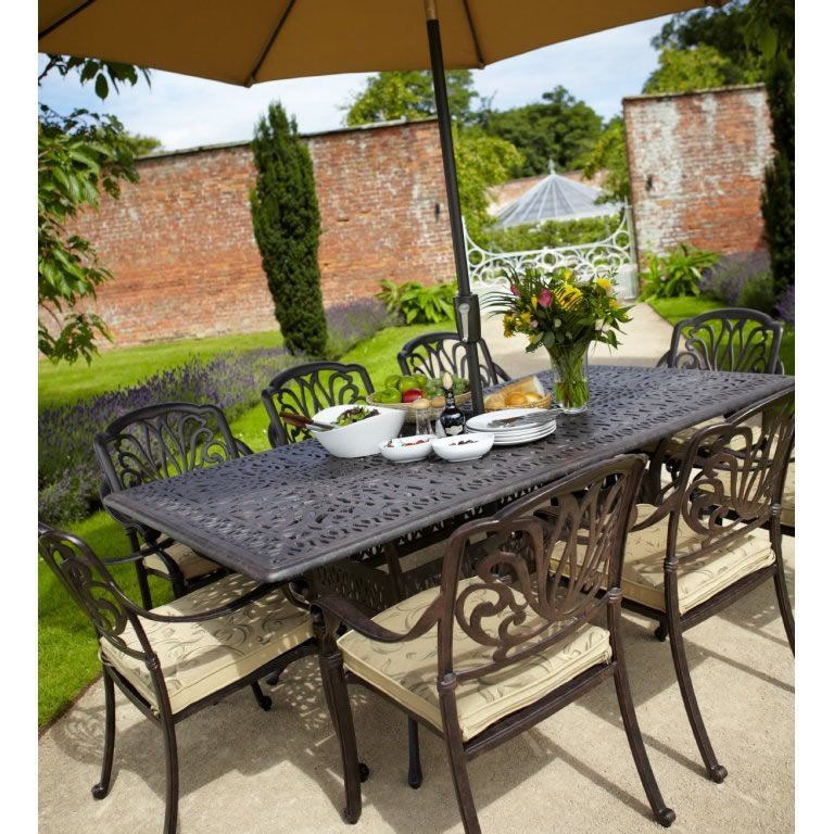 Hartman 2017 Amalfi Rectangular 8 Seater Set in Bronze
