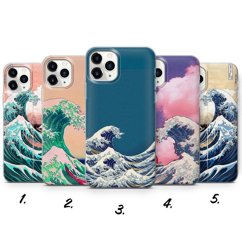 Japanese Waves Phone Case Great Wave Of Kanagawa Cover For Etsy In 2021 Waves Phone Case Phone Cases Japanese Waves