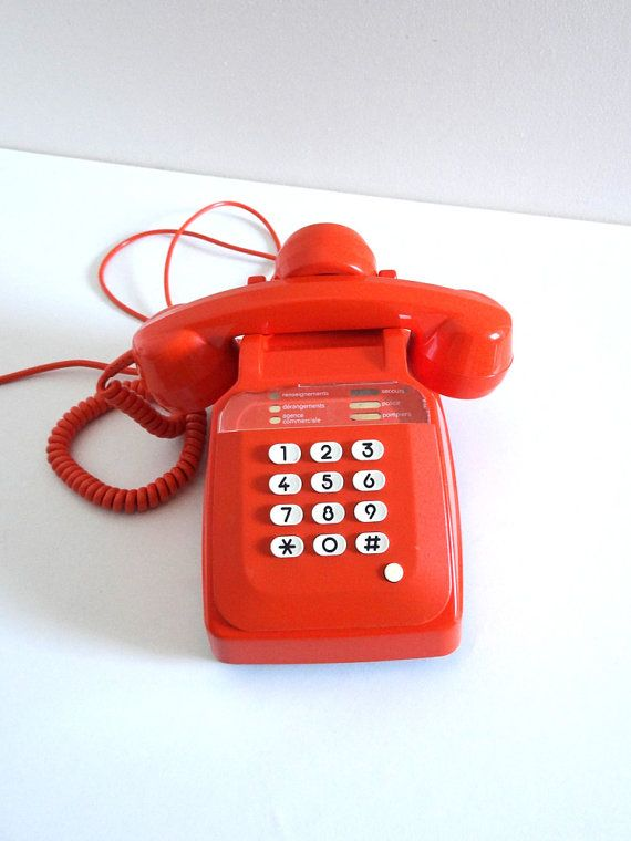 t l phone vintage orange ann es 70 socotel touches french vintage pinterest telephone. Black Bedroom Furniture Sets. Home Design Ideas