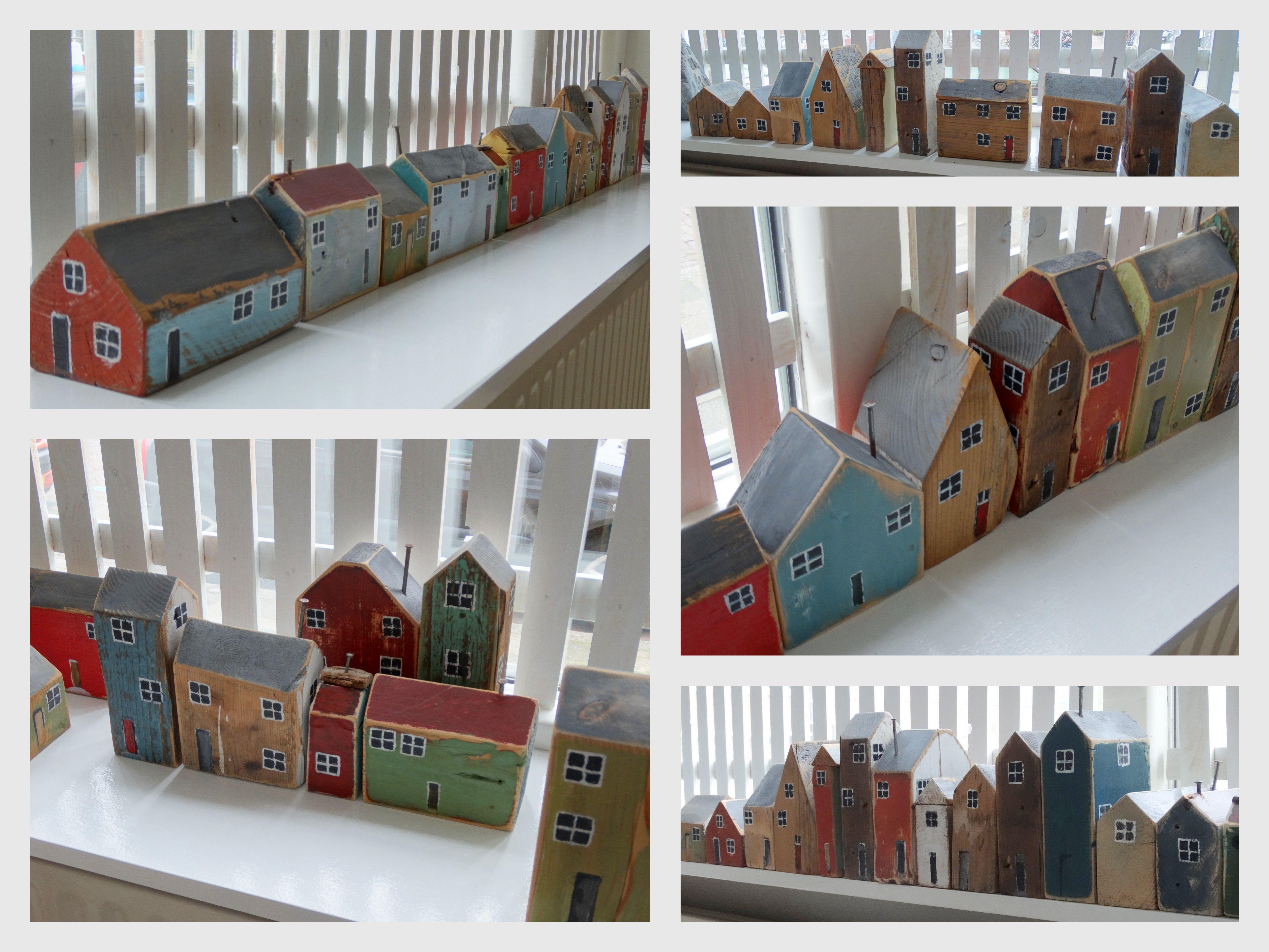 miniature huisjes maken van afvalhout