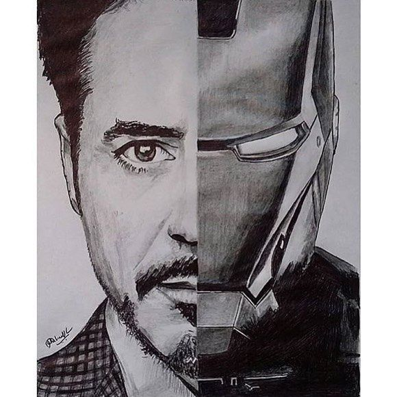 How To Draw People - Cartoon And Realistic | Iron man art ...