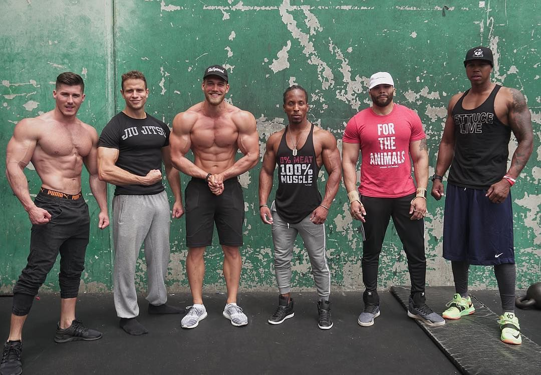 Just A Few Protein Deficient Vegans Had A Great Time Filming At The Legendary Golds Gym Venice Stay Tuned Fo Vegan Athletes Vegan Bodybuilding Vegan Fitness