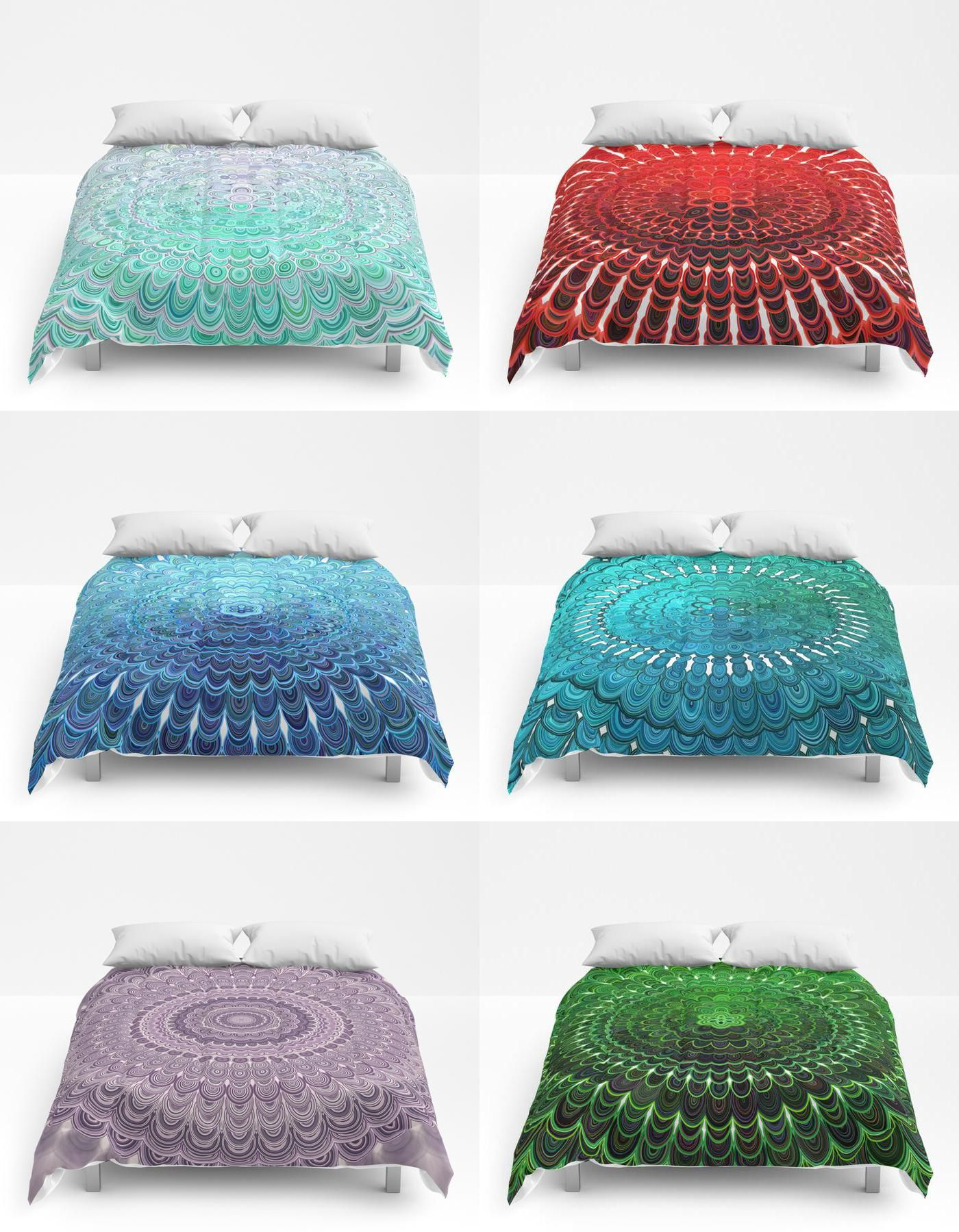 colorful mandala comforters by david zydd graphic art giftidea