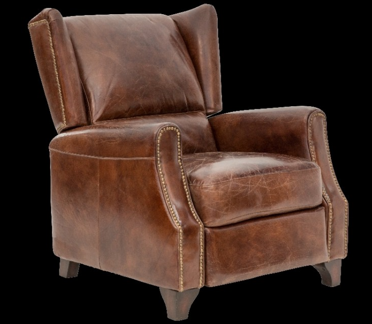 Vintage style leather recliner accent chair. & Vintage style leather recliner accent chair. | Ideas for the House ... islam-shia.org