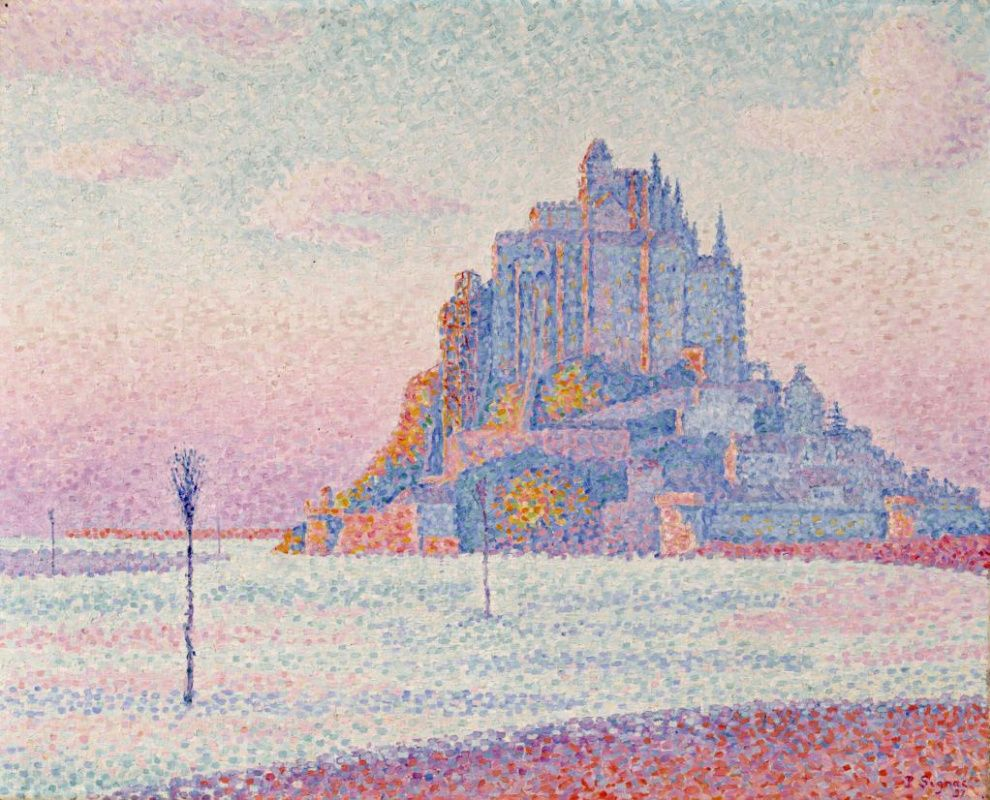 Mont Saint Michel Setting Sun By Paul Signac History With